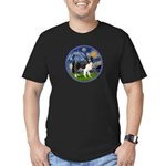 Starry / Border Collie (Z) Men's Fitted T-Shirt (d