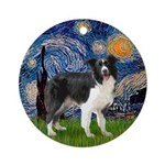 Starry / Border Collie (Z) Ornament (Round)