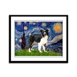 Starry / Border Collie (Z) Framed Panel Print