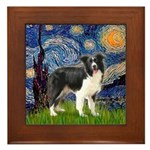 Starry / Border Collie (Z) Framed Tile