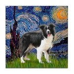 Starry / Border Collie (Z) Tile Coaster