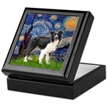 Starry / Border Collie (Z) Keepsake Box