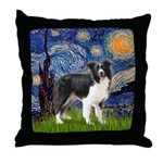 Starry / Border Collie (Z) Throw Pillow