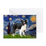 Starry / Border Collie (Z) Greeting Card
