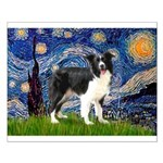 Starry / Border Collie (Z) Small Poster