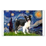 Starry / Border Collie (Z) Sticker (Rectangle 10 p