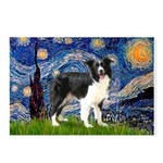 Starry / Border Collie (Z) Postcards (Package of 8