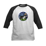 Starry / Border Collie (Z) Kids Baseball Jersey