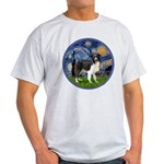 Starry / Border Collie (Z) Light T-Shirt