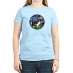 Starry / Border Collie (Z) Women's Light T-Shirt