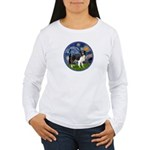 Starry / Border Collie (Z) Women's Long Sleeve T-S