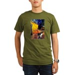 Cafe / Border Collie (Z) Organic Men's T-Shirt (da