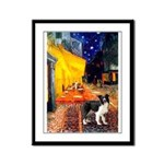 Cafe / Border Collie (Z) Framed Panel Print