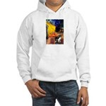 Cafe / Border Collie (Z) Hooded Sweatshirt