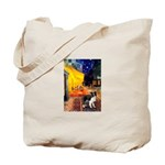 Cafe / Border Collie (Z) Tote Bag