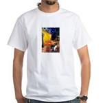 Cafe / Border Collie (Z) White T-Shirt