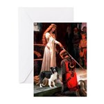 Accolade/Border Collie (Z) Greeting Cards (Pk of 2