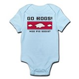 Go Hogs! Infant Bodysuit (white or pink)