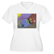 Unique Modern cat art T-Shirt