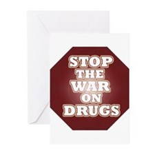 Stop the War on Drugs Greeting Cards (Pk of 20)
