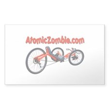 "Atomic Zombie Warrior Trike (Rectangle) 3"" x5"