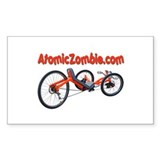 Atomic Zombie Warrior Trike (Rectangle) 3&amp;quot; x5