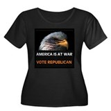 OUR ENEMY IS HERE! Women's Plus Size Scoop Neck Da