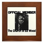 OFFICIAL Church of Ed Wood Framed Tile