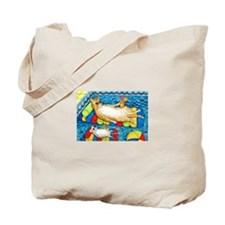 Unique Paintings of cats Tote Bag