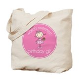 birthday girl blue cake Tote Bag