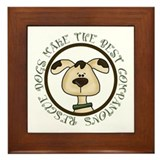 Rescue Dogs Shirts Framed Tile