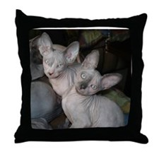 Cute Sphynx cat Throw Pillow