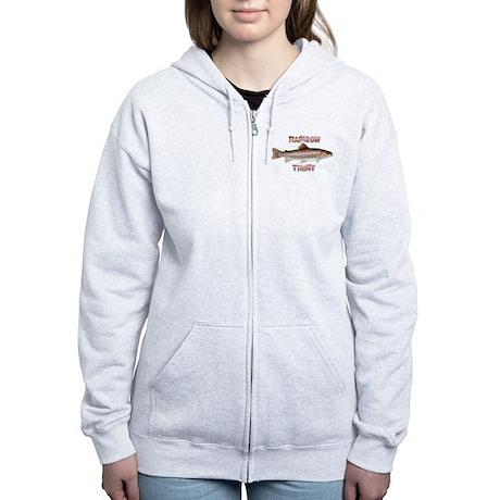 Rainbow Trout Women's Zip Hoodie