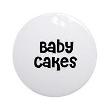 Baby Cakes Ornament (Round)
