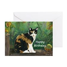 Calico Cat Birthday Greeting Cards (Pk of 20)