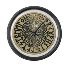 Futhark & Irminsul Large Wall Clock