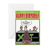 X Tractor Greeting Card