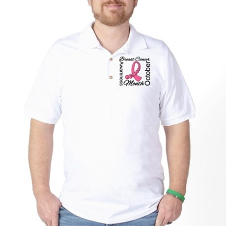 Breast Cancer Month Gemstone Golf Shirt