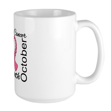 Breast Cancer Month Gemstone Large Mug