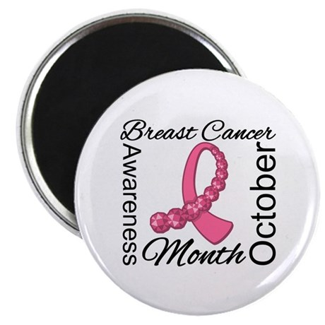 Breast Cancer Month Gemstone Magnet