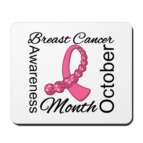 Breast Cancer Month Gemstone Mousepad