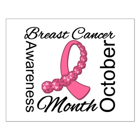 Breast Cancer Month Gemstone Small Poster