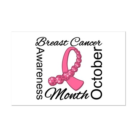 Breast Cancer Month Gemstone Mini Poster Print