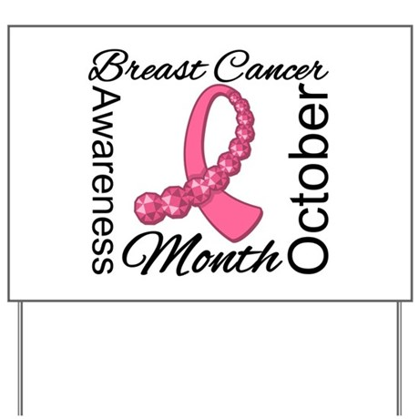 Breast Cancer Month Gemstone Yard Sign