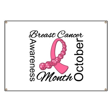 Breast Cancer Month Gemstone Banner