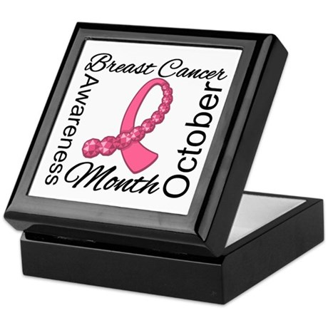 Breast Cancer Month Gemstone Keepsake Box