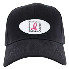 Breast Cancer Month Gemstone Black Cap