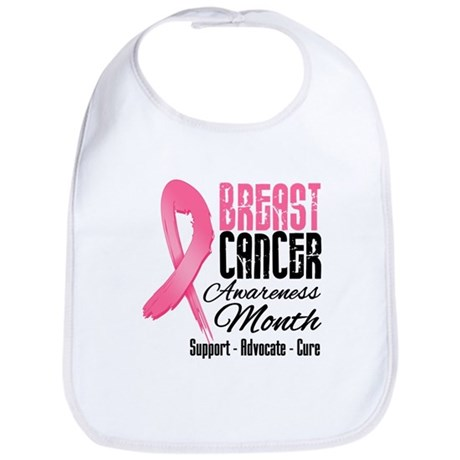 Breast Cancer Month Pink Ribbon Bib