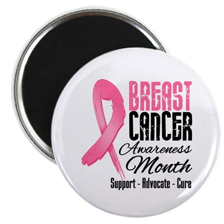 "Breast Cancer Month Pink Ribbon 2.25"" Magnet (10 p"