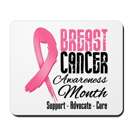Breast Cancer Month Pink Ribbon Mousepad